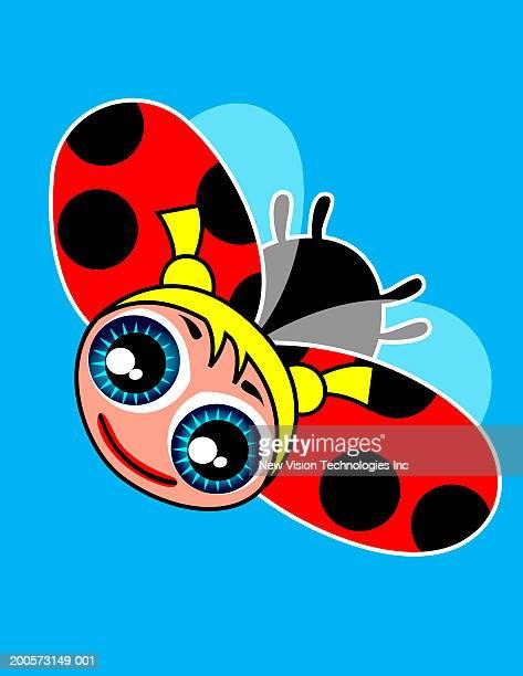 ladybug - animal limb stock illustrations, clip art, cartoons, & icons