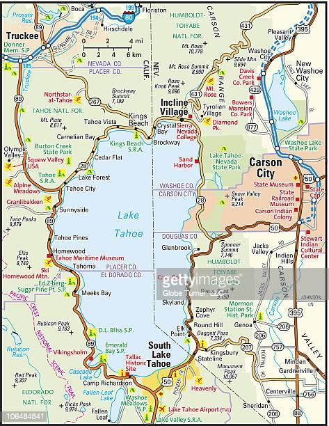 lake tahoe area map - サウスレイクタホ点のイラスト素材/クリップアート素材/マンガ素材/アイコン素材