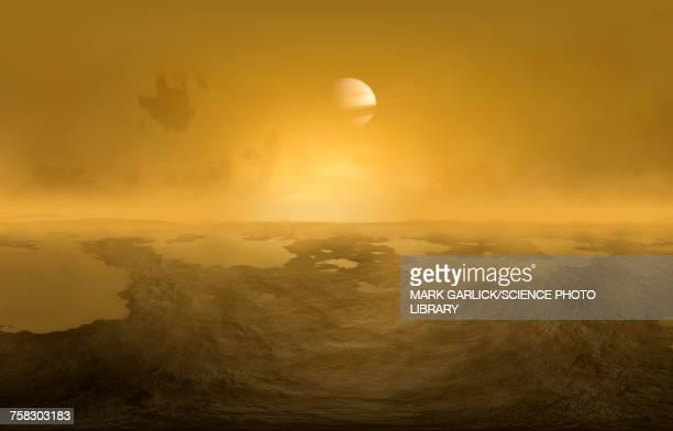 Lakes on Titan, illustration