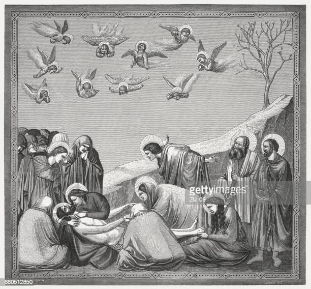 Lamentación de Cristo, pintado (1304-06) por Giotto, capilla de los Scrovegni, Padua