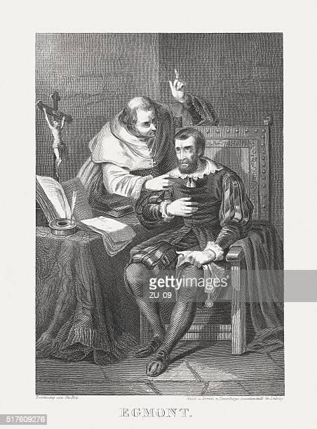 Lamoral, Count of Egmont (1522-1568), steel engraving, published in 1868