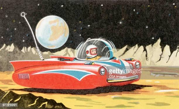 land speeder - exploration stock illustrations