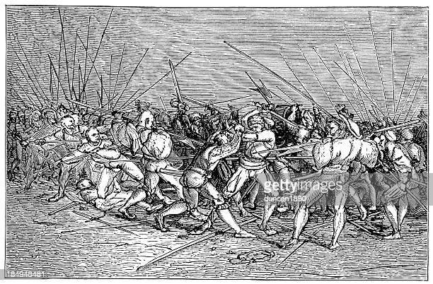 landsknechts fighting - renaissance stock illustrations