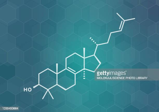 lanosterol molecule, illustration - aggregation stage stock illustrations