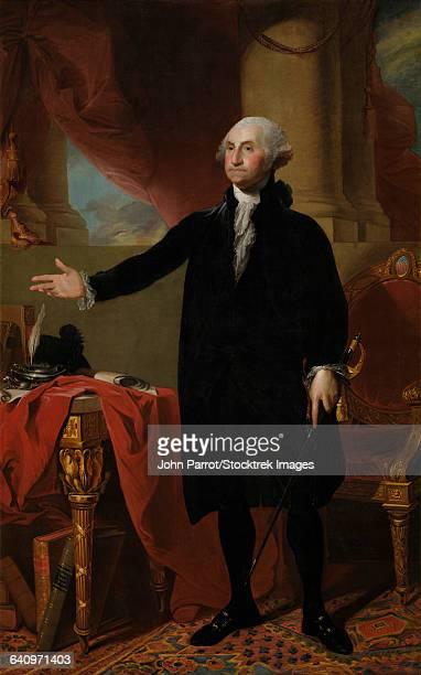 lansdowne portrait of president george washington. - george washington stock illustrations