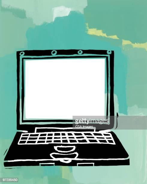 laptop computer - computer stock illustrations