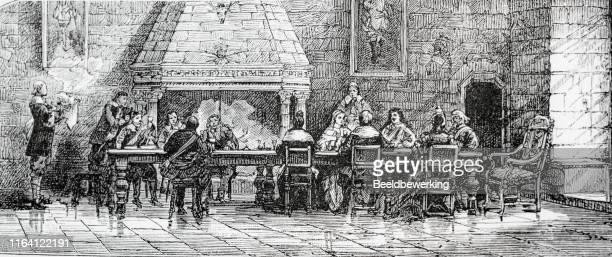 城での大きなディナー - 17世紀点のイラスト素材/クリップアート素材/マンガ素材/アイコン素材