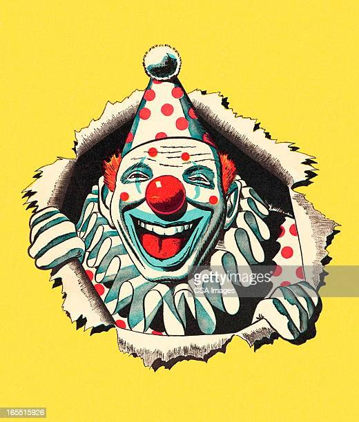 illustrations, cliparts, dessins animés et icônes de lauging clown - clown