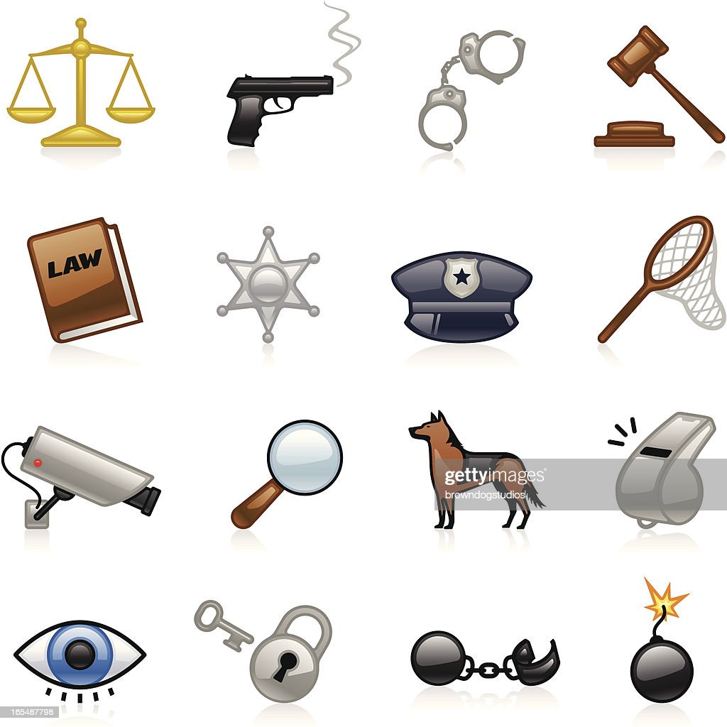 Law and Justice Icons - Color