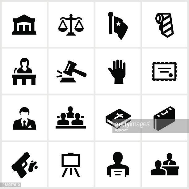 law and justice icons - courthouse stock illustrations, clip art, cartoons, & icons