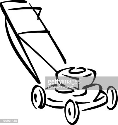 lawn mower vector art | thinkstock