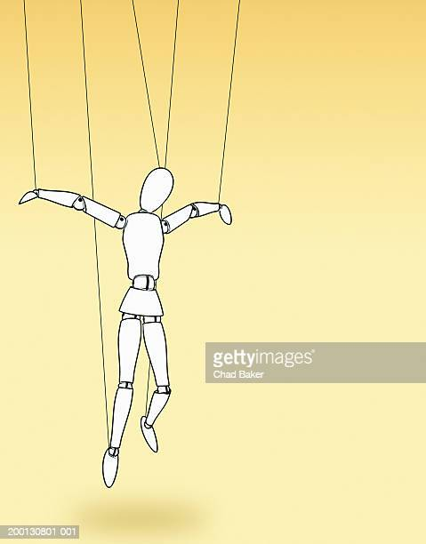 lay figure hanging by strings - artist's model stock illustrations, clip art, cartoons, & icons