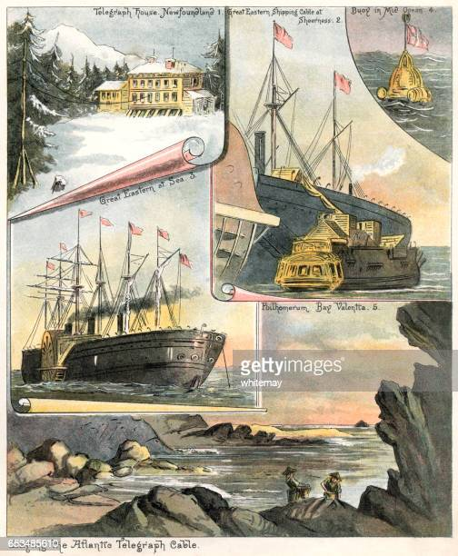 Laying the Atlantic telegraph cable