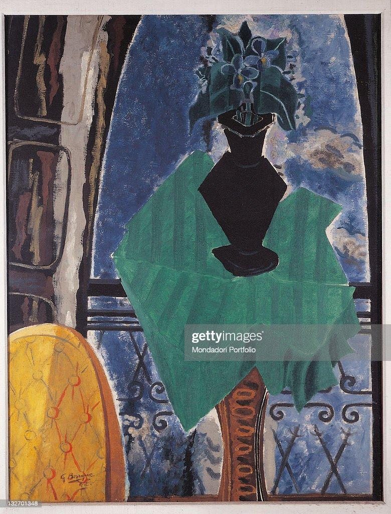 Le gueridon vert devant la fenetre by georges braque 1942 for Devant la fenetre