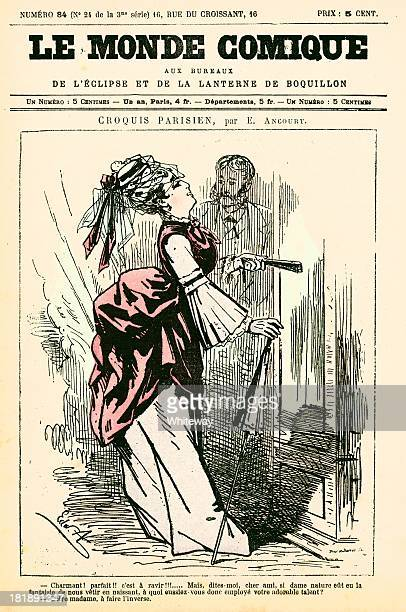 Humour French cartoon from Le Monde Comique 19th century