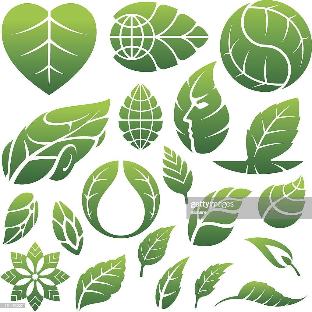 leaf icons and elements