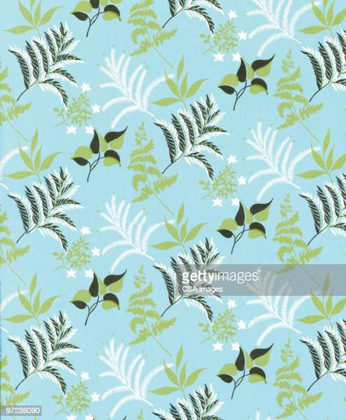 leaf pattern - floral pattern stock illustrations