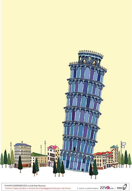Leaning Tower By Clear Sky Wall Art