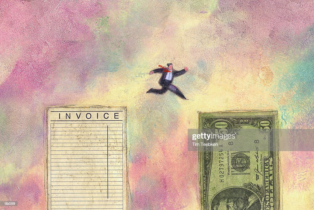 Leaping from Loss to Profit : Stockillustraties