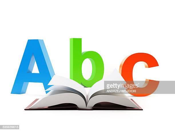 learning the alphabet, artwork - the alphabet stock illustrations