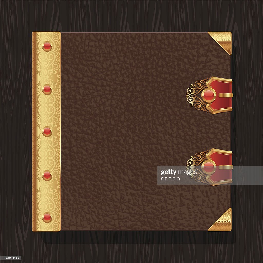 Leather vintage book hardcover