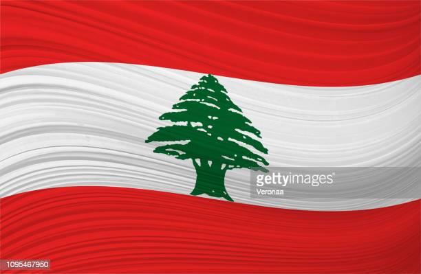 lebanese waving flag - lebanon country stock illustrations