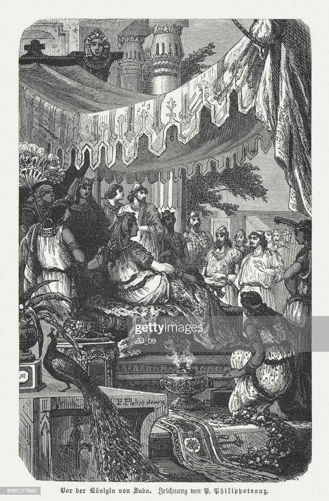 伝説のエチオピアの女王シバ (紀元前 10 世紀) の出版 1880 : ストックイラストレーション