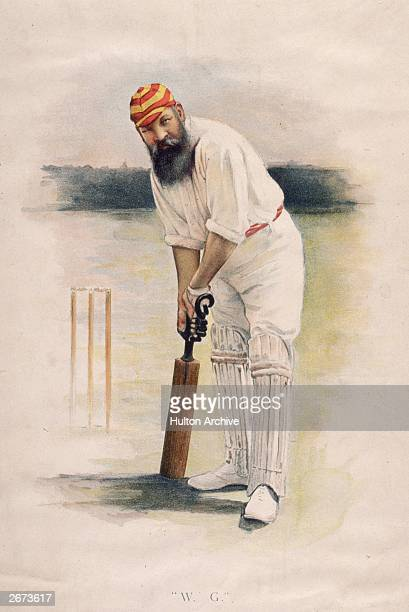 Legendary Gloucestershire, London County and England cricketer William Gilbert Grace .