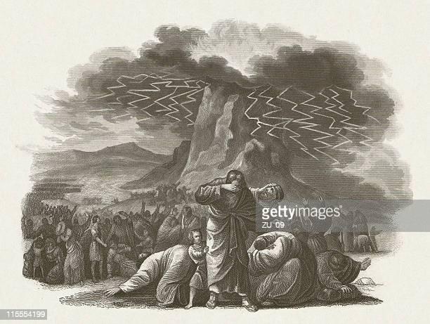 ilustrações de stock, clip art, desenhos animados e ícones de a legislação de israel em mount sinai, publ). 1860 - monte sinai