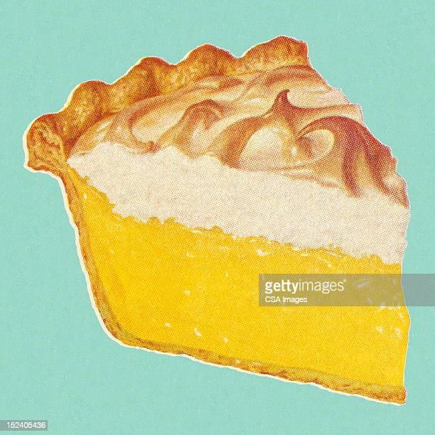 ilustrações, clipart, desenhos animados e ícones de torta de limão com merengue - sobremesa