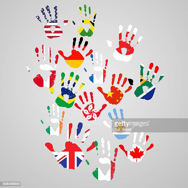 lending a hand to global change - diplomacy stock illustrations