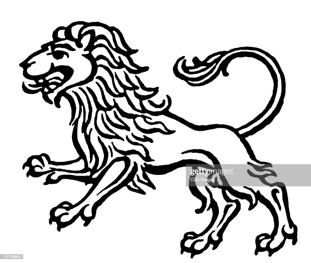 black and white lion stock illustrations and cartoons Lion Teeth Diagram leo
