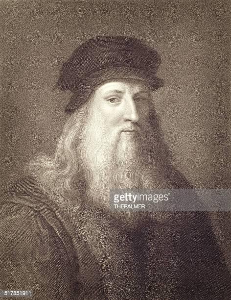Leonardo Da Vinci Engraving