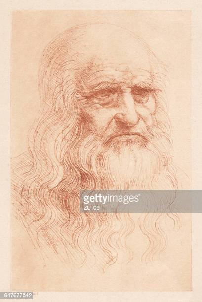Leonardo da Vinci (1452-1519), Italian polymath, heliogravure, published in 1884