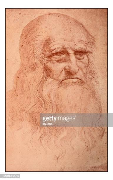 Leonardo's sketches and drawings: Self portrait