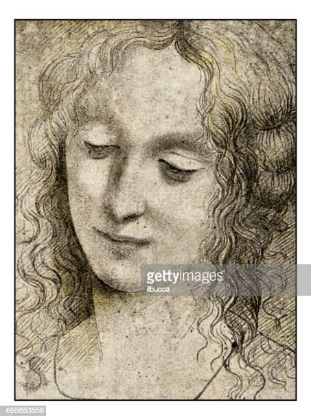 Leonardo's sketches and drawings: Virgin of 'Virgin of the Rocks'