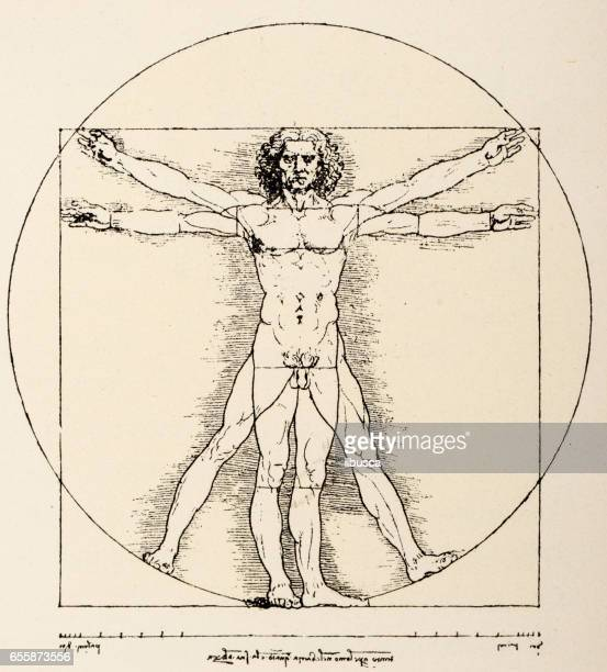 Leonardo's sketches and drawings: Vitruvian Man