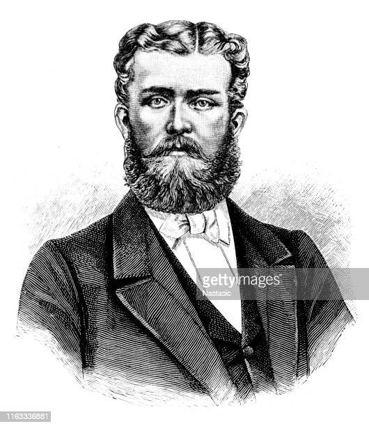 ilustraciones, imágenes clip art, dibujos animados e iconos de stock de leopoldo, príncipe de hohenzollern (1835 - 1905) - württemberg