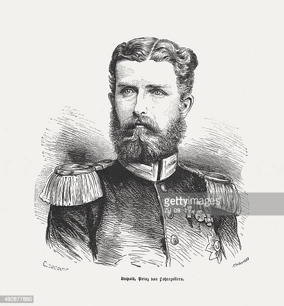 leopold, prince of hohenzollern (1835 - 1905), published in 1871 - 1905 stock illustrations, clip art, cartoons, & icons