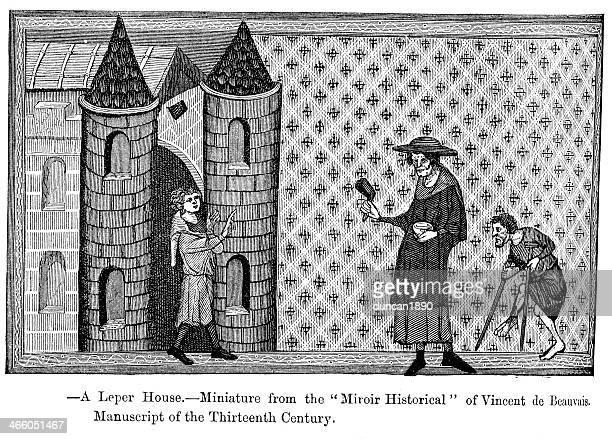 ilustrações de stock, clip art, desenhos animados e ícones de leper house - lepra