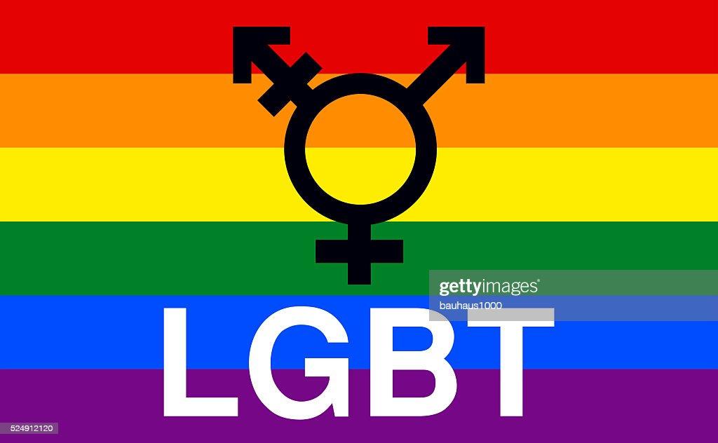 LGBT, Lesbian, Gay,Transgender, Bisexual, Gay Pride Flag : stock illustration