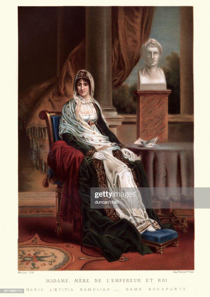 Letizia Ramolin, mother of Napoleon Bonaparte : stock illustration