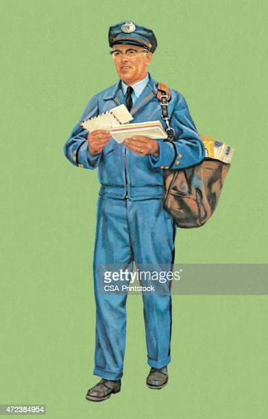 illustrations, cliparts, dessins animés et icônes de porte-lettre - facteur