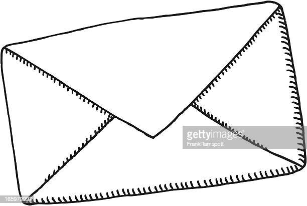 letter envelope drawing - envelope stock illustrations, clip art, cartoons, & icons