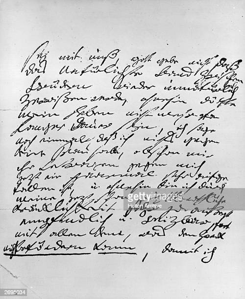 Letter from the German composer Ludwig van Beethoven to his brother.