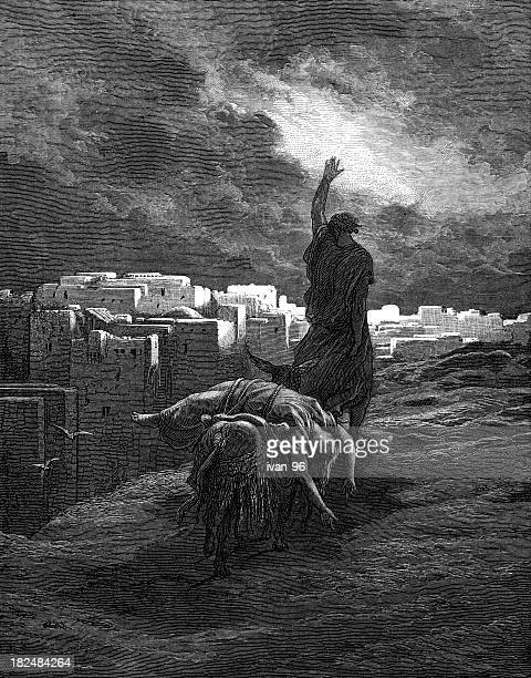 levite carries away the body - gustave dore stock illustrations, clip art, cartoons, & icons