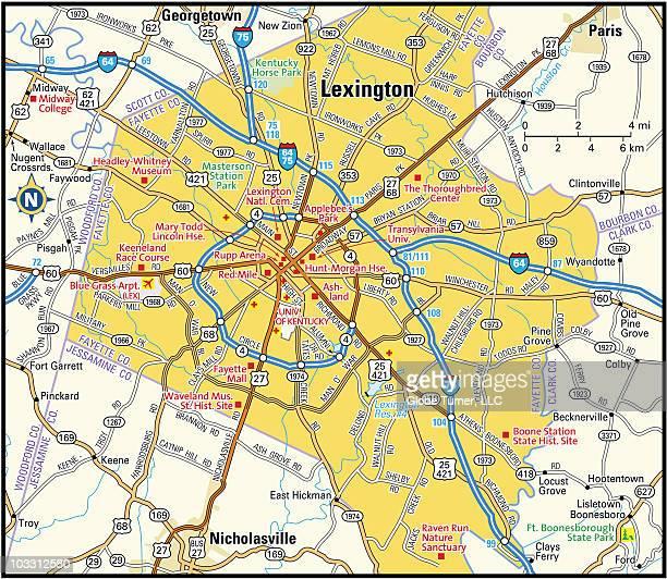 lexington, kentucky area - lexington kentucky stock illustrations