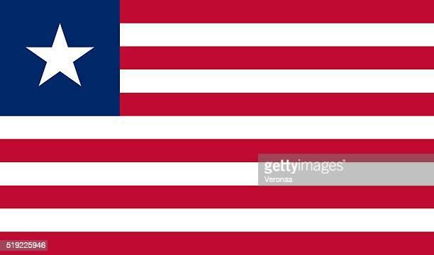liberian flag - liberia stock illustrations, clip art, cartoons, & icons