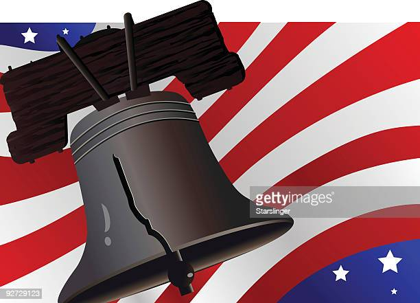liberty and justice for all - liberty bell stock illustrations