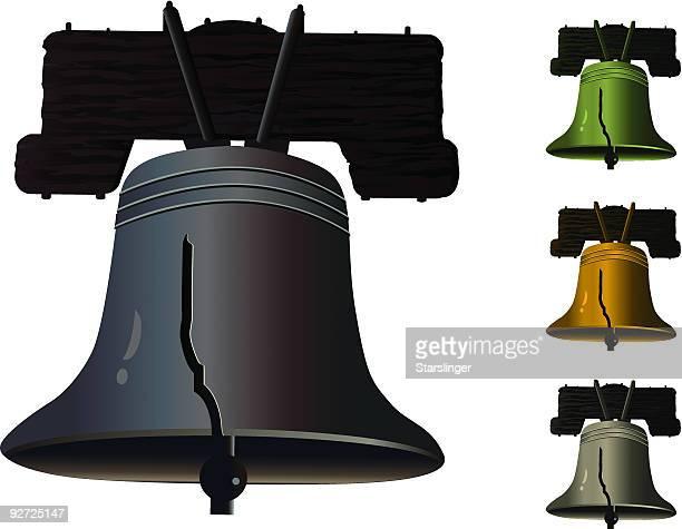liberty bell - bill of rights stock illustrations
